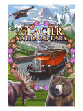 Glacier National Park Views Print