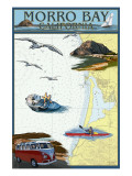 Morro Bay, California - Nautical Chart Poster