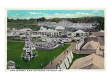 Des Moines, Iowa - State Fair Grounds; Midway Scene Prints