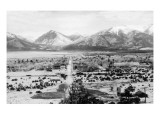 Buena Vista, Colorado - Panoramic View of Town Print by  Lantern Press