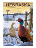 Pheasants - Nebraska Kunstdrucke