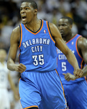 Oklahoma City Thunder v Memphis Grizzlies - Game Four, Memphis, TN - MAY 9: Kevin Durant Photographic Print by Andy Lyons