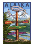 Denali National Park, Alaska - Sign Destinations Posters