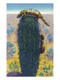New Mexico - View of Gila Monsters on Cactus Kunstdrucke von  Lantern Press