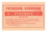 Potassium Hydroxide - Poison Prints