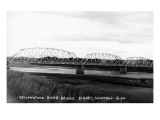 Sidney, Montana - Yellowstone River Bridge Panoramic Kunstdrucke