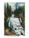 Yellowstone Nat'l Park, Wyoming - Firehole River; Kepler Cascade Scene Kunstdrucke von  Lantern Press