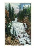 Yellowstone Nat'l Park, Wyoming - Firehole River; Kepler Cascade Scene Prints by  Lantern Press