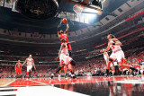 Atlanta Hawks v Chicago Bulls - Game Five, Chicago, IL - MAY 10: Josh Smith and Luol Deng Photographic Print by Scott Cunningham