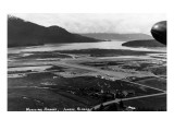 Juneau, Alaska - Aerial View of Municipal Airport Prints