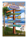 Hilton Head, South Carolina - Destination Signs Kunstdrucke