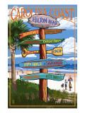 Hilton Head, South Carolina - Destination Signs Kunstdrucke
