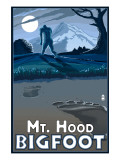 Bigfoot - Mt. Hood, Oregon Art by  Lantern Press