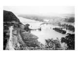 Marquette, Iowa - View of Mississippi Suspension Bridge, Prairie du Chien Prints by  Lantern Press