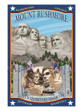 Mount Rushmore National Memorial, SD Posters by  Lantern Press