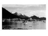 Sitka, Alaska - View of Town from Water Prints by  Lantern Press