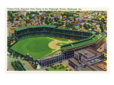 Pittsburgh, Pennsylvania - Forbes Field, Schenley Park View Art