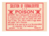 Solution of Formaldehyde Poster