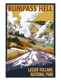 Bumpass Hell - Lassen Volcanic National Park, CA Posters