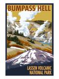 Bumpass Hell - Lassen Volcanic National Park, CA Posters