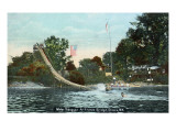 Elmira, New York - Fitches Bridge Water Toboggan Print by  Lantern Press