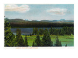 Yellowstone Nat'l Park, Wyoming - Sleeping Giant Scene Art by  Lantern Press
