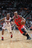 Chicago Bulls v Atlanta Hawks - Game Three, Atlanta, GA - MAY 6: Keith Bogans and Jeff Teague Photographic Print by Scott Cunningham