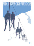 Breckenridge, Colorado Ski Lift Posters av  Lantern Press