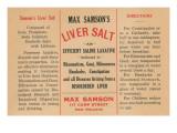 Max Samson's Liver Salt Print