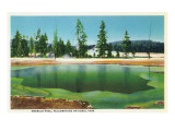 Yellowstone Nat'l Park, Wyoming - Emerald Pool Scene Prints
