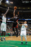 Miami Heat v Boston Celtics - Game Four, Boston, MA - MAY 9: Dwyane Wade and Kevin Garnett Photographic Print by Brian Babineau