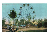 Chautauqua Lake, New York - Celoron Park; View of Phoenix Ferris Wheel Posters by  Lantern Press
