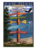 Friday Harbor, Washington - Sign Destinations Posters