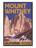Mt. Whitney, California Peak Pósters por  Lantern Press