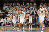 Oklahoma City Thunder v Memphis Grizzlies - Game Four, Memphis, TN - MAY 9: Shane Battier and Marc  Photographic Print by Joe Murphy