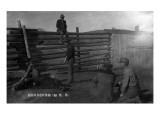 South Dakota - Branding Cattle Scene Prints by  Lantern Press