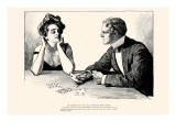 Of Course You Can Tell Fortunes With Cards Posters by Charles Dana Gibson