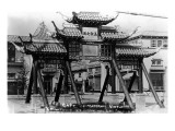 Los Angeles, California - Chinatown; Gate of Maternal Virtue on Broadway Print by  Lantern Press