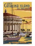 Catalina Island, California - Casino & Marina Prints by  Lantern Press
