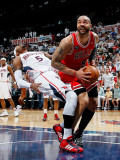 Chicago Bulls v Atlanta Hawks - Game Three, Atlanta, GA - MAY 6: Josh Smith and Carlos Boozer Photographic Print by Kevin Cox