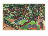 Philadelphia, Pennsylvania - University of Pennsylvania Stadium Aerial Prints