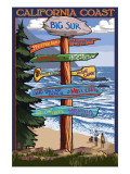 Big Sur, California - Destination Sign Poster by  Lantern Press