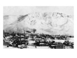 Butte, Montana - Panoramic View of Town Poster by  Lantern Press