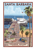Santa Barbara, California - Stern's Wharf Posters by  Lantern Press