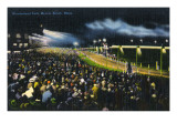 Revere Beach, Massachusetts - Wonderland Race Track at Night Posters by  Lantern Press