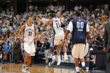Oklahoma City Thunder v Memphis Grizzlies - Game Four, Memphis, TN - MAY 9: Greivis Vasquez, Mike C Photographic Print by Joe Murphy