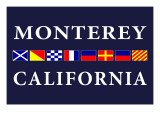 Monterey, California - Nautical Flags Poster by  Lantern Press