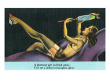 Pin-Up Girls - Glamour Girl in Brief Attire Sets Fellow's Thoughts Afire Prints by  Lantern Press