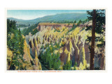 Yellowstone Nat'l Park, Wyoming - Needles View near Tower Fall Posters by  Lantern Press
