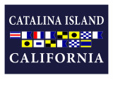 Catalina Island, California - Nautical Flags Posters by  Lantern Press